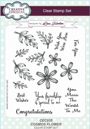 Clear Stamp Set - Cosmos Flower